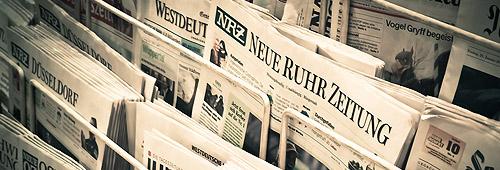 Zeitungen im Kiosk